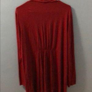 J. Jill Tops - Long j. Jill red wearever drape cardigan size xl
